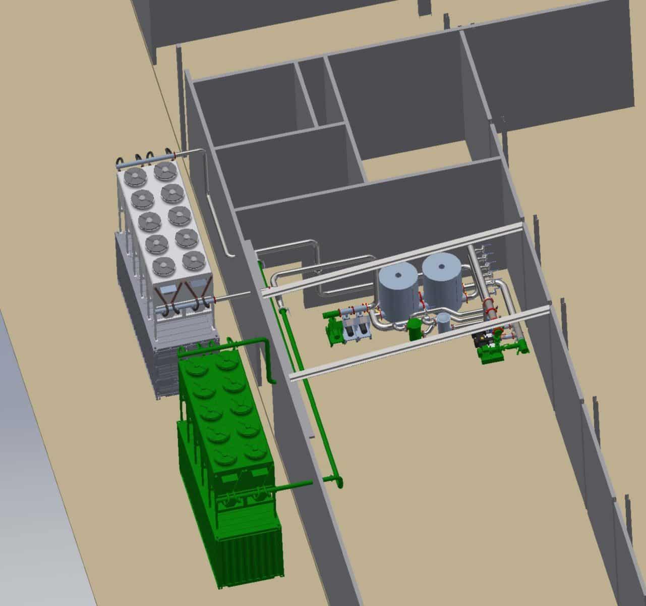 3d_tekening_koelingsysteem integratie en installatie