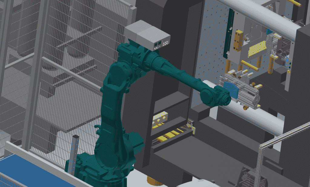 3D_tekening_uitname_product_matrijs_spuitgietmachine_robotarm