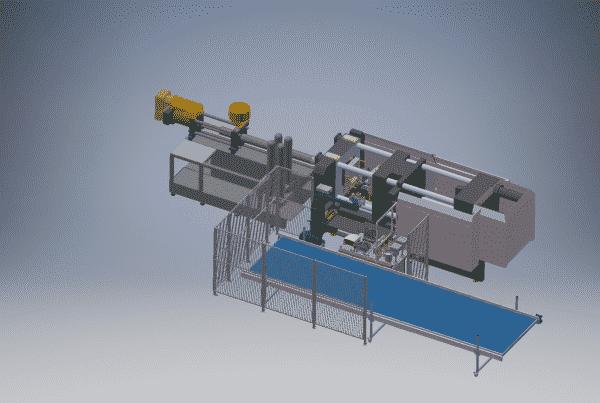 3d-tekening_opstelling automatisatieoplossing productie