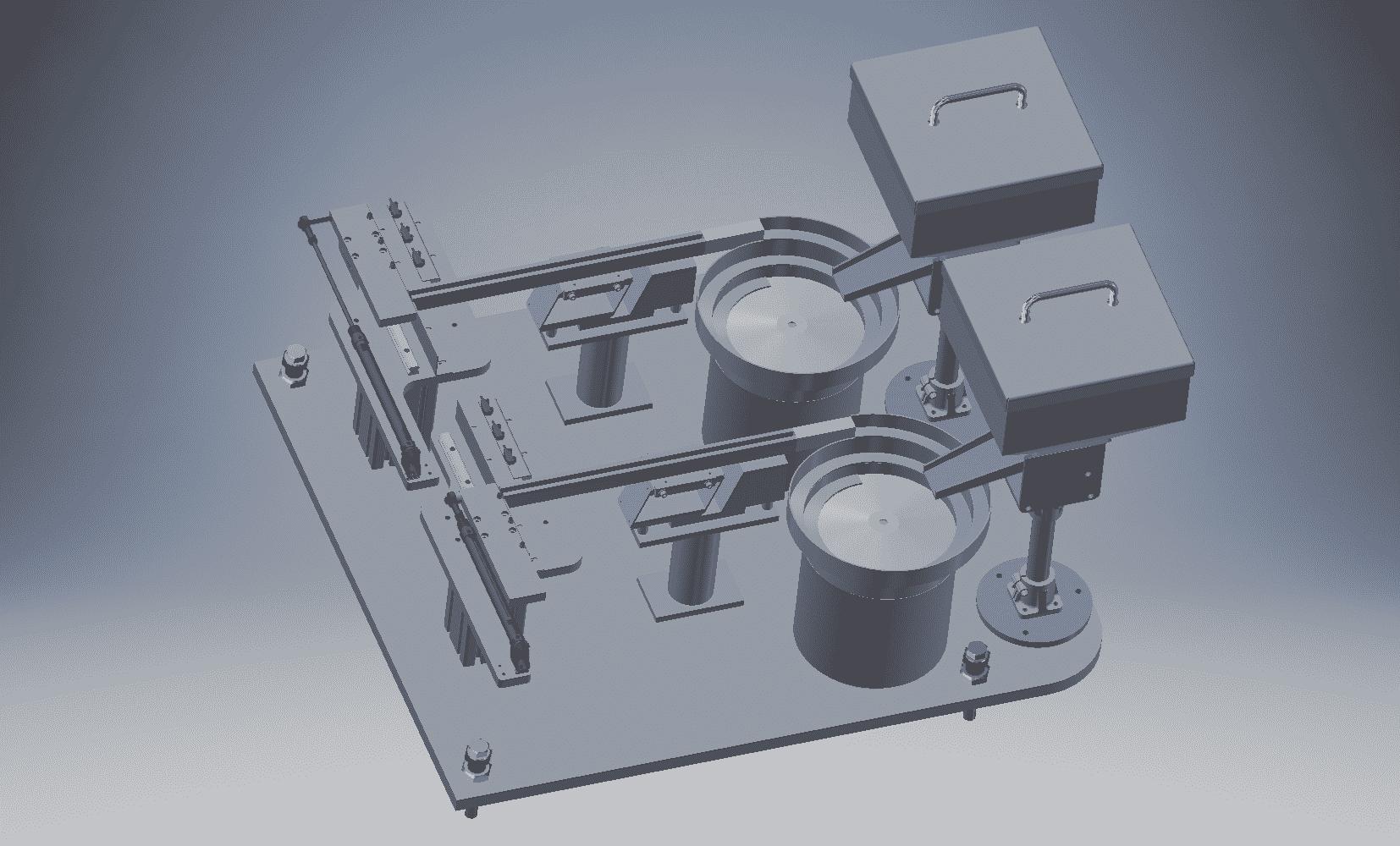 3D tekening_Trilkuip aanvoer materiaal bij automatisatie installatie PME